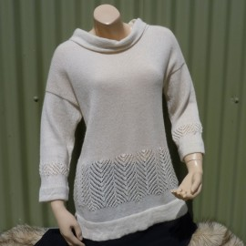 Lace Border Jumper