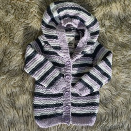 Alpaca Baby Jacket with Hood