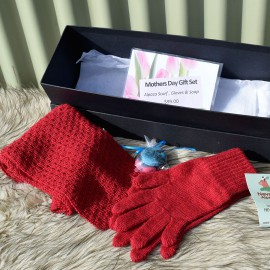 Alpaca Scarf & Glove Gift Set