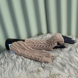 Cable & Lace Mitts