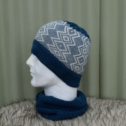 Diamond Fairisle Beanie