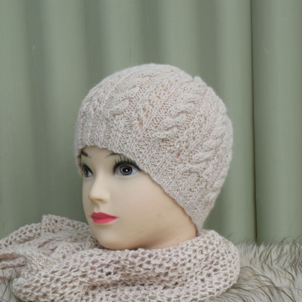 Cable & Lace Beanie