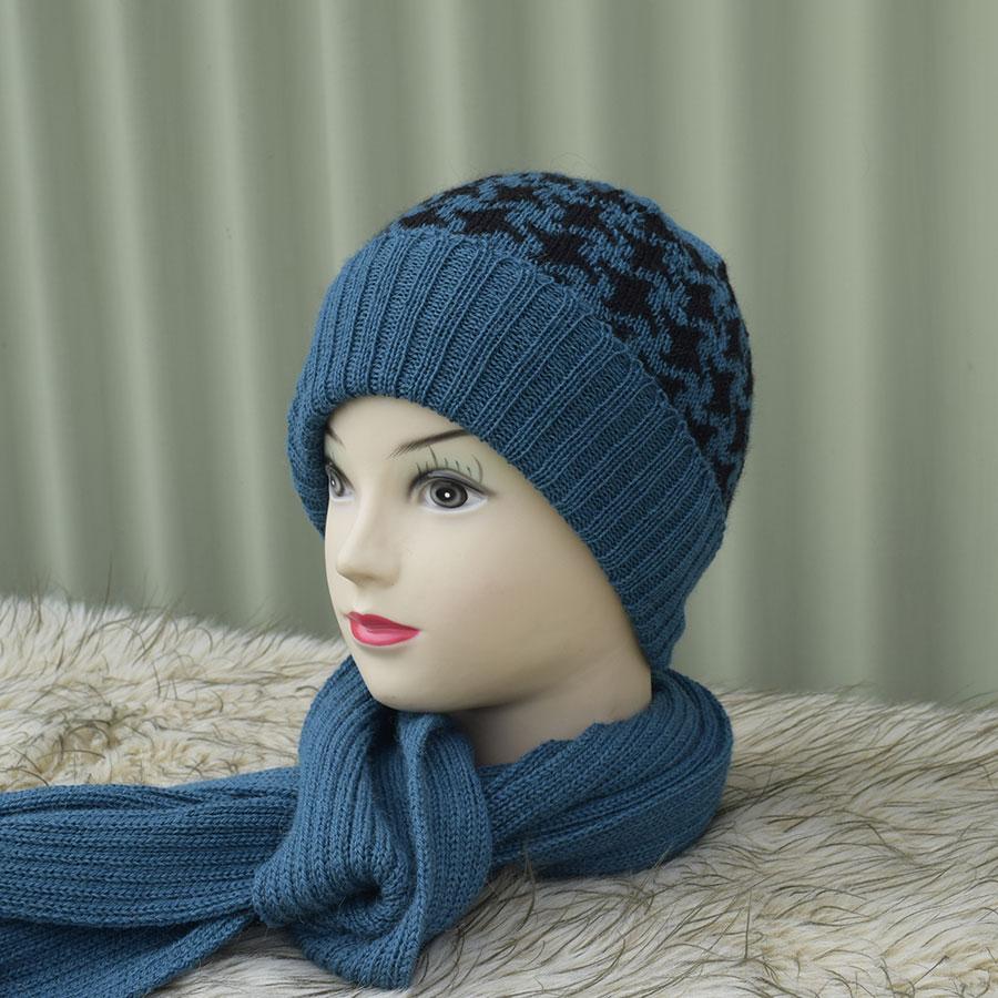 Unisex Womens Mens Knitted Ski Beanie Cap Warm Hat Scarf