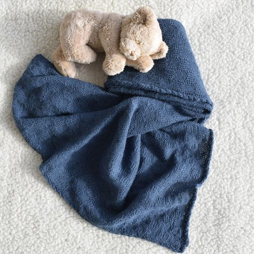 Blue baby snuggle wrap